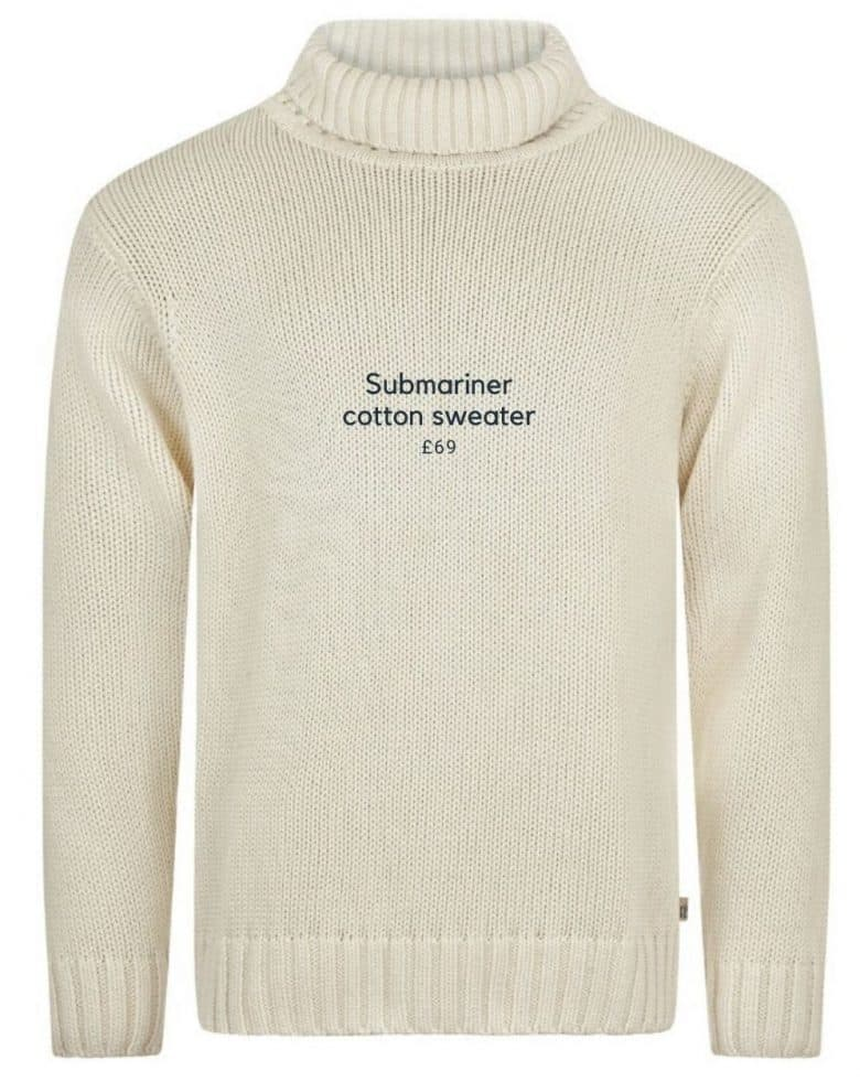 submariner cotton jumper made in england in pure cotton #submariner #jumper #madeinengland #frombritainwithlove