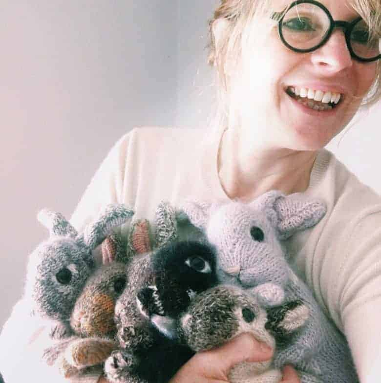 claire garland dot pebbles knits bunnies