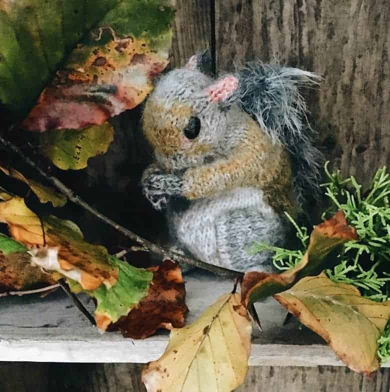claire garland dot pebbles knits squirrel