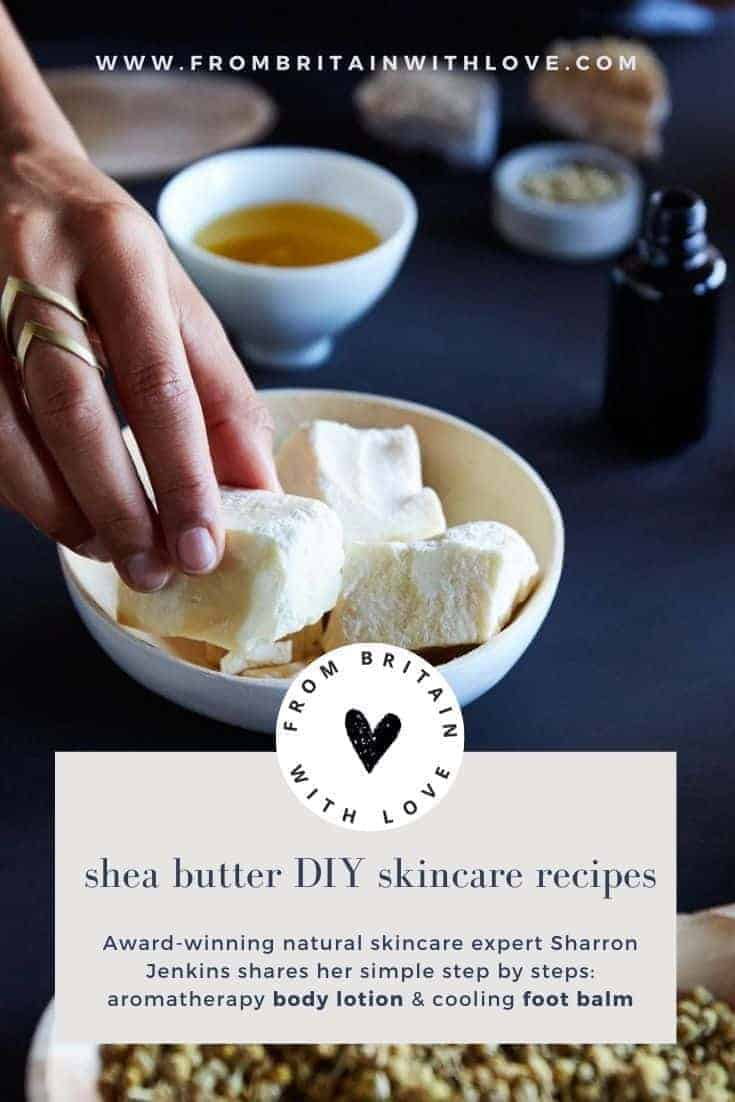 shea butter benefits and DIY recipes for natural eco friendly skincare and beauty with Sharron Jenkins of Kalabash bodycare #sheabutter #recipes #diy #beauty #skincare #natural