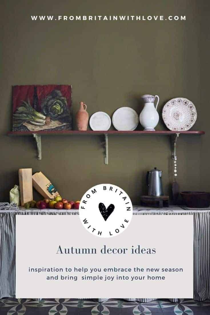 autumn decor kitchen olive green rustic annie sloan chalk pain #autumn #decor #rustic #anniesloan #frombritainwithlove