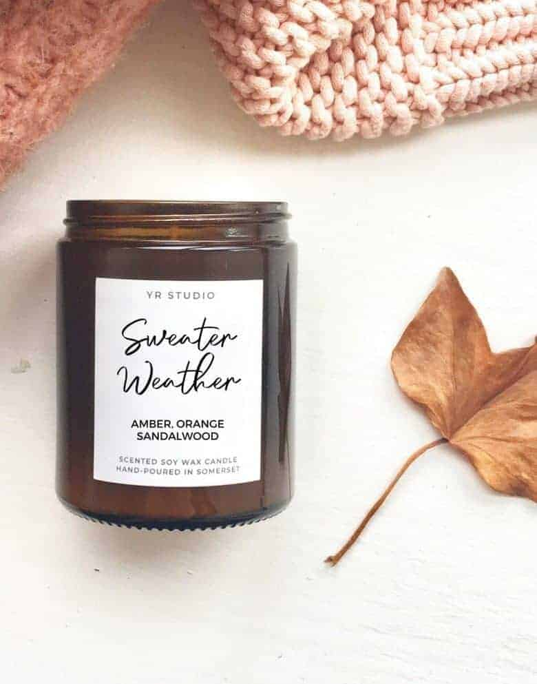 autumn candle vegan amber orange sandalwood hand poured ethical vegan soya #candle #autumn #handpoured #autumn