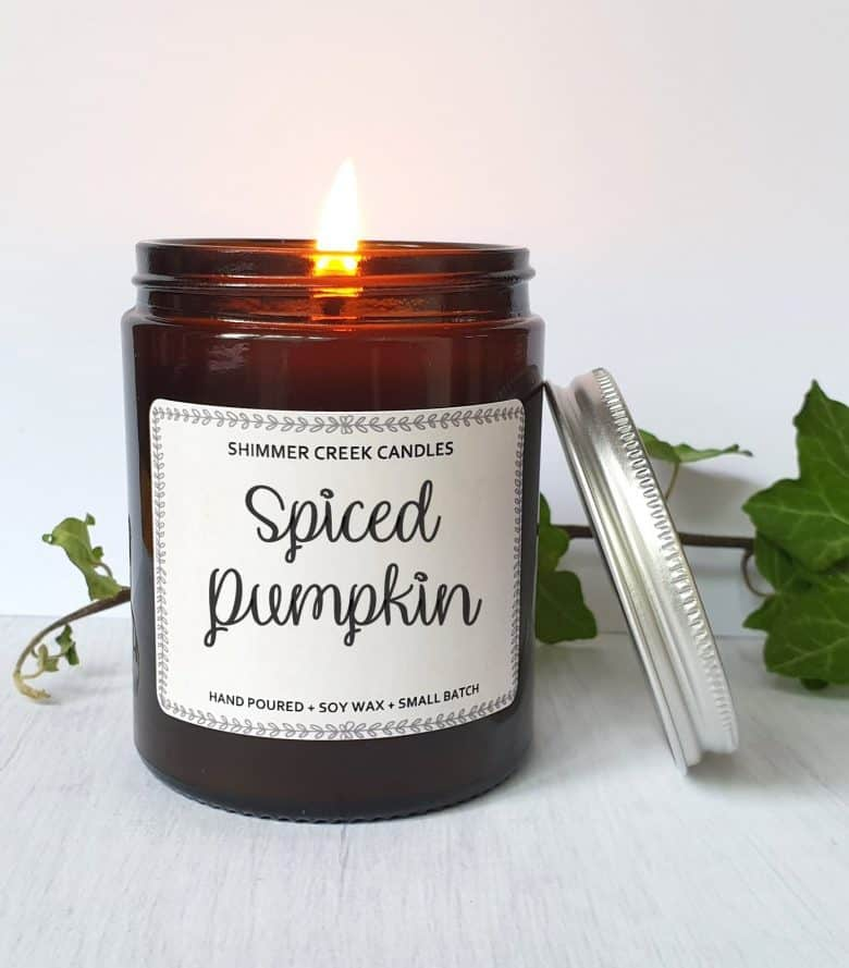 spiced pumpkin autumn candle cinnamon clove #autumn #candle #pumpkin #frombritainwithlove