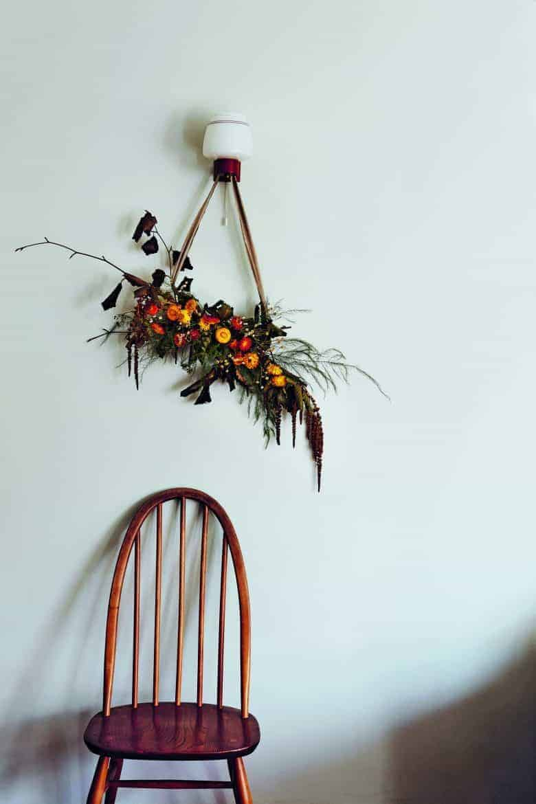 dried flower bough wall hanging by bex partridge from her everlastings book of dried flower ideas