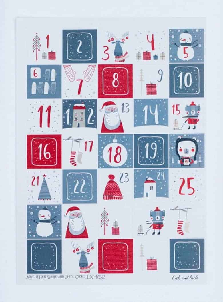 diy advent calendars - our pick of the most beautiful advent calendar kits to enjoy making this Christmas and to love for years to come like these beautiful scandi style advent stickers from etsy #advent #calendar #diy #frombritainwithlove #handmade