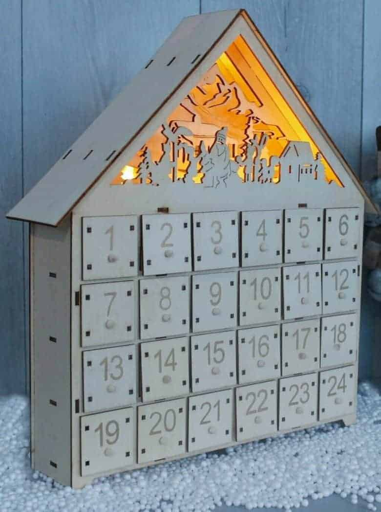 light up advent house fill your own diy wooden from etsy #advent #calendar #diy #frombritainwithlove #handmade