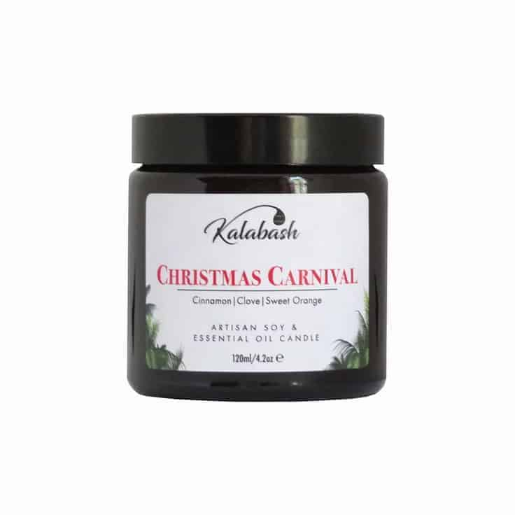 christmas candle natural essential oil soy handmade by kalabash using essential oils of cinnamon, clove and sweet orange