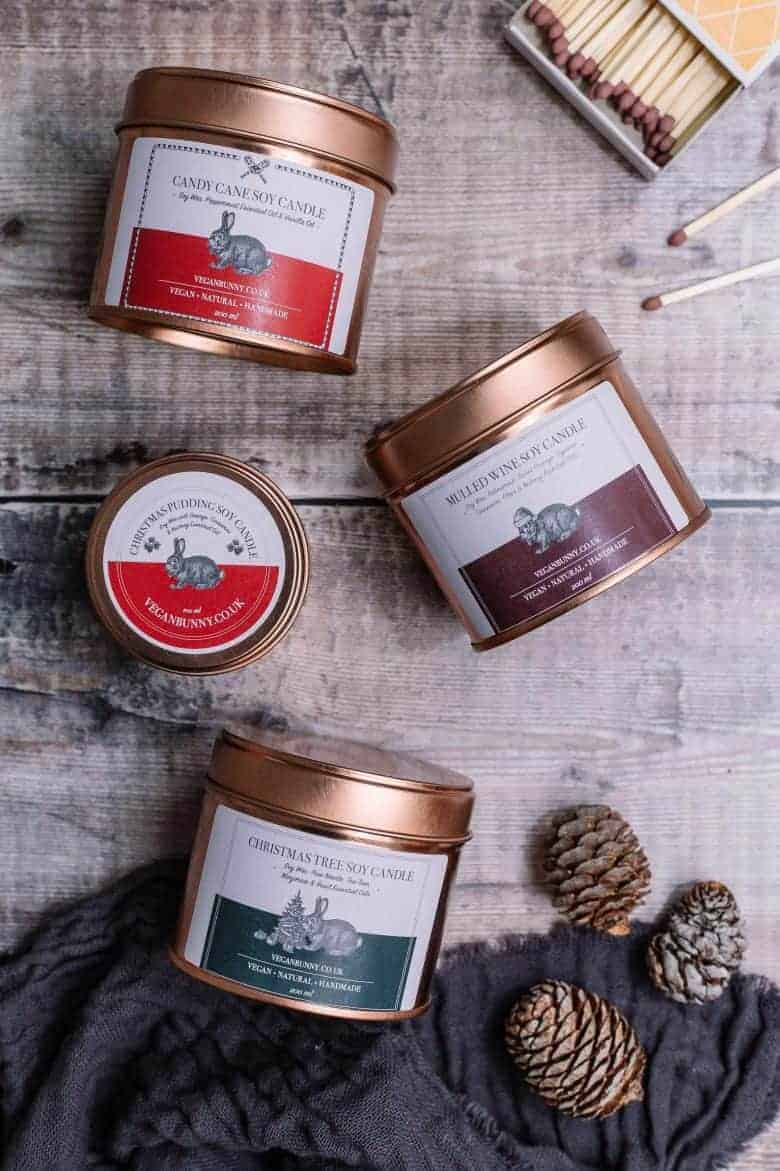 christmas candles hand poured using vegan soy wax and essential oils perfect for creating festive fragrance for the holidays #christmas #candles #handmade #soy #natural