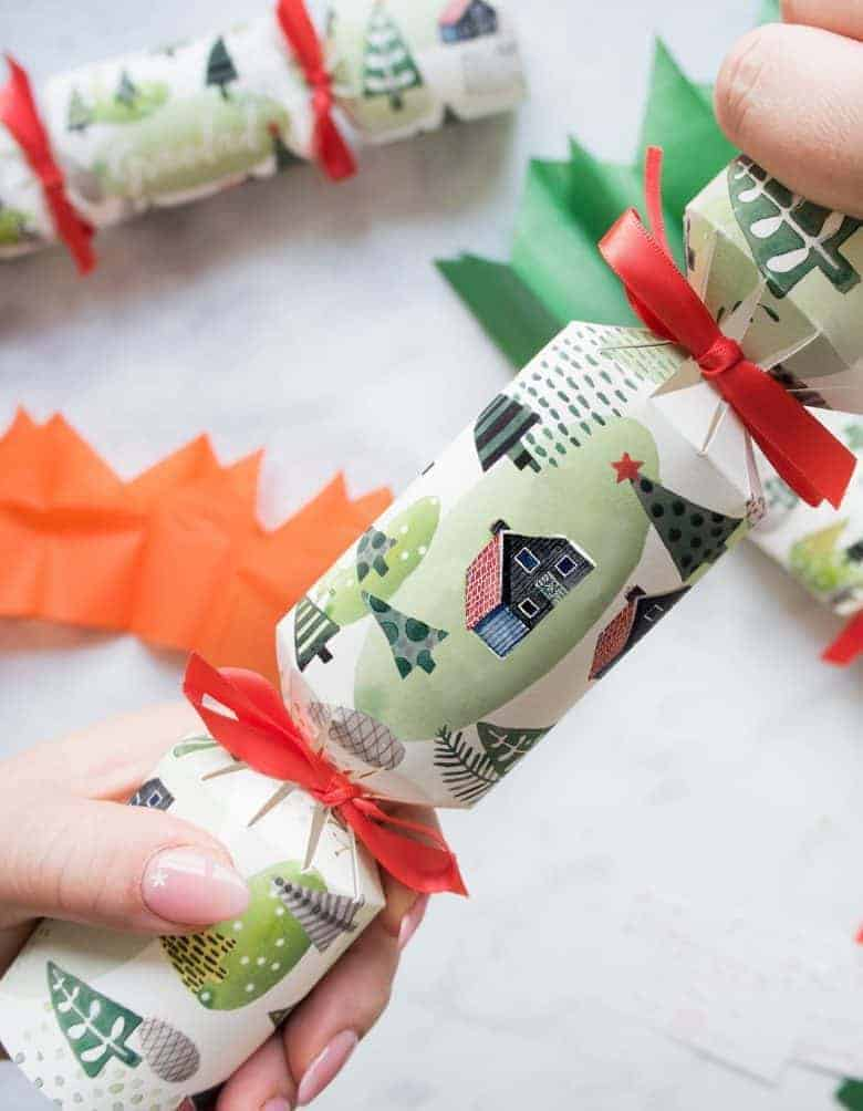 christmas crackers diy kit by helena tyce from etsy plastic free in Helena's original design with your own personalised names added if you choose ready to fill your own crackers with treats, jokes, surprises #christmascrackers #diy #kit #fillyourown