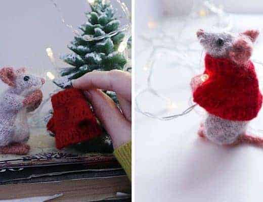 christmas mouse knitting pattern
