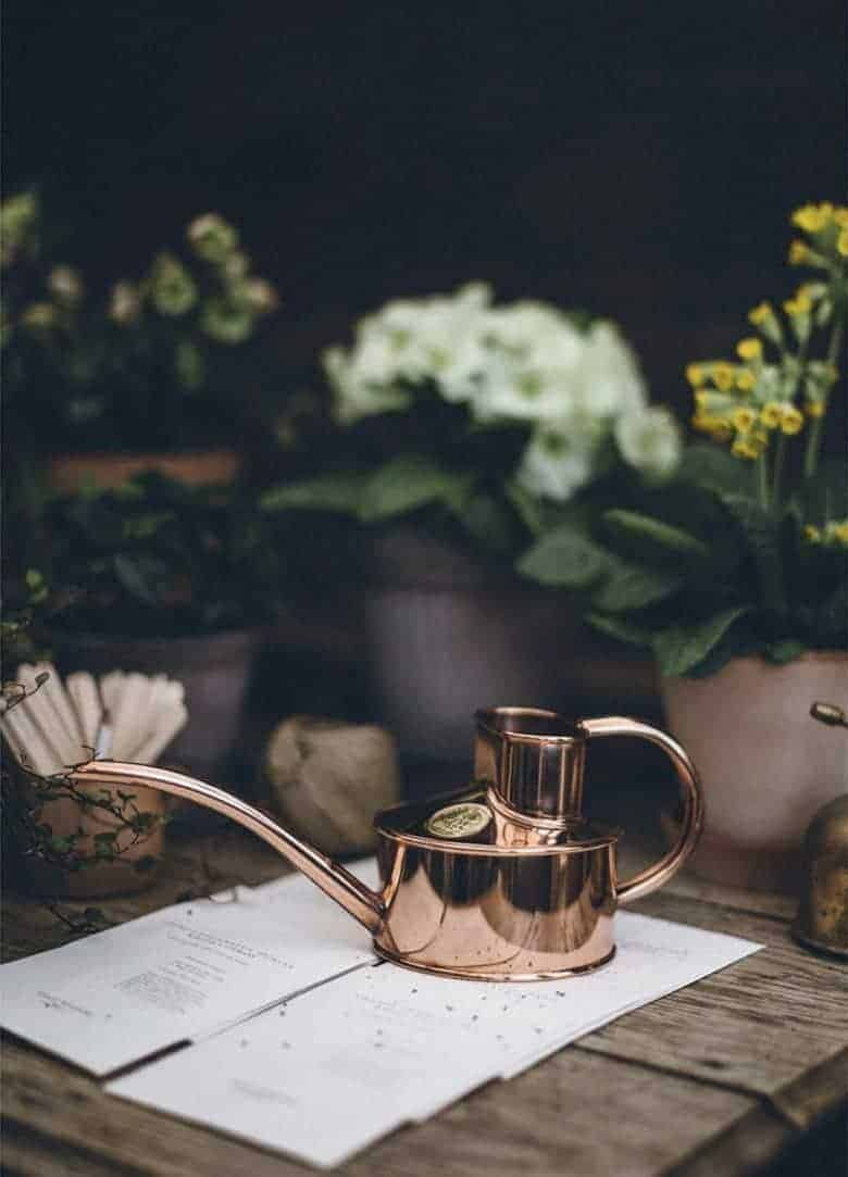 gifts for gardeners - love this fazeley flow handcrafted copper watering can from Foundland just one of my favourite gift ideas for people who love to grow #giftideas #gardeners #copper #wateringcan