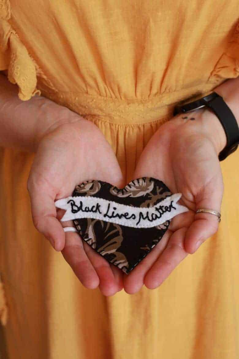 love this black lives matter embroidered craftivism gentle protest -support the gentle protest of craftivist collective handbook. Find out how to support this new crowdfunder book project by sarah corbett founder of craftivist collective #blacklivesmatter #craftivism #craftivisthanbook