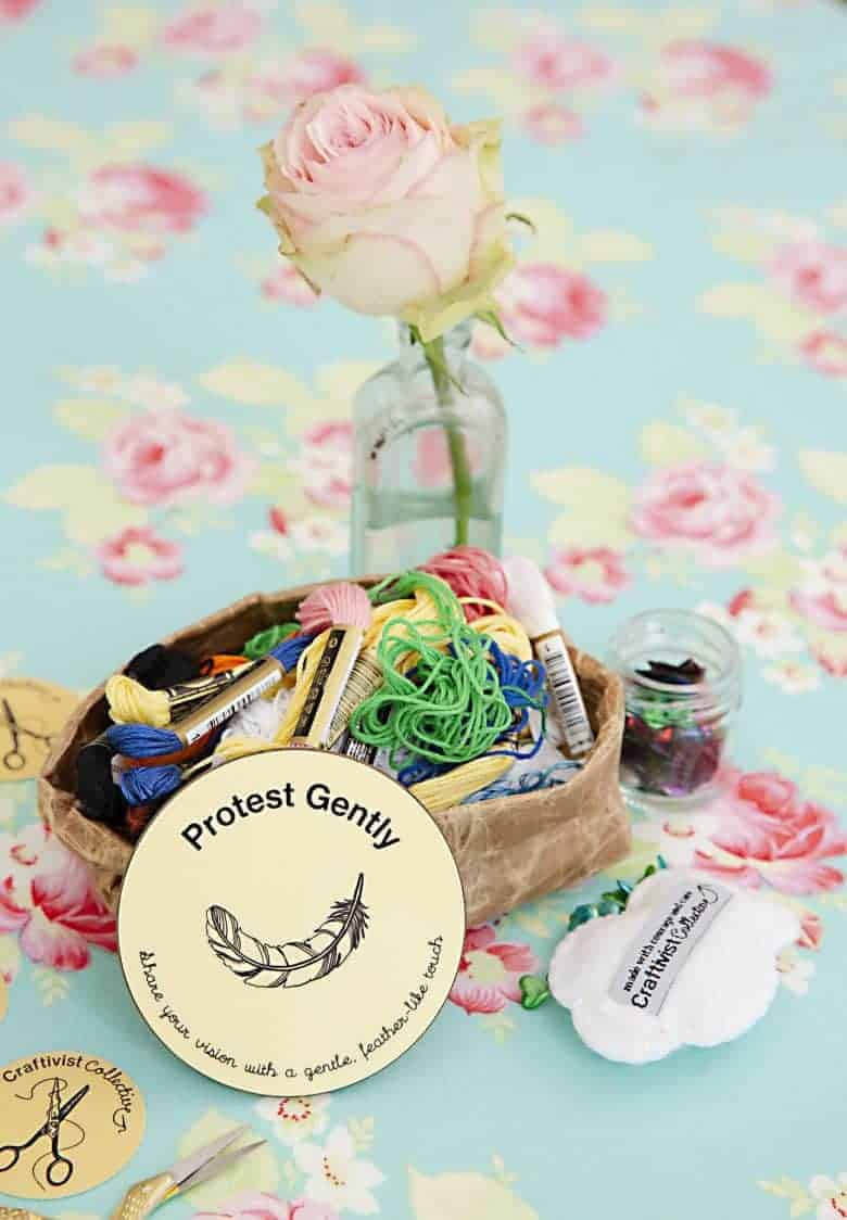 craftivist collective handbook. Find out how to support this new crowdfunder book project by sarah corbett founder of craftivist collective