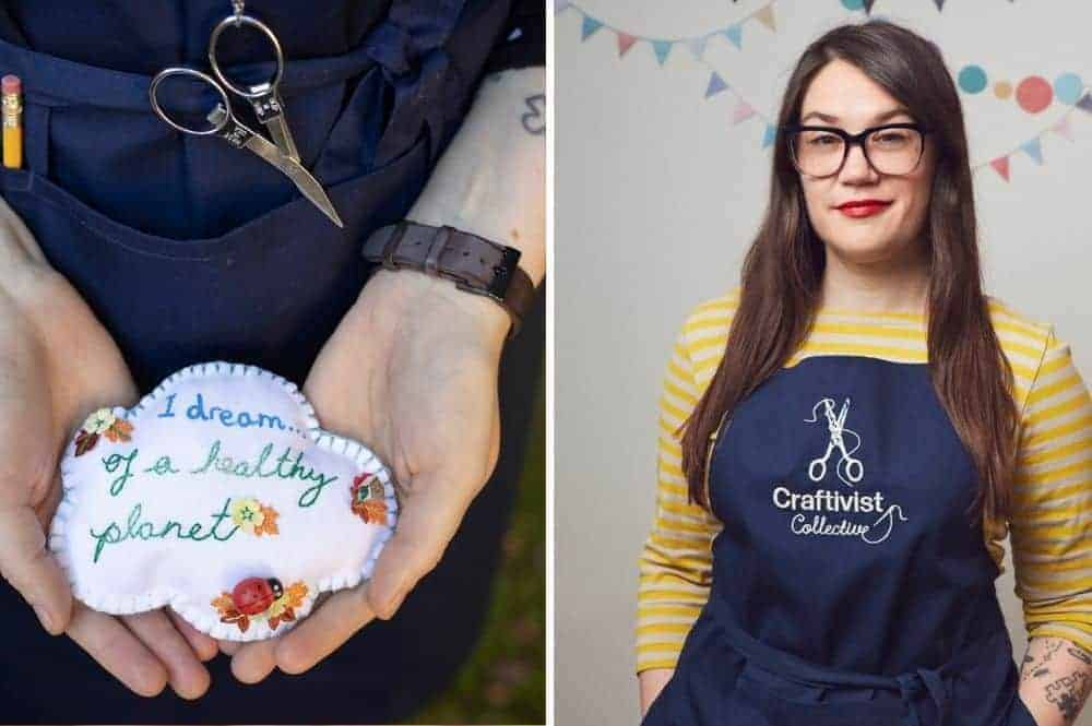 craftivist collective handbook dream maker project embroidered cloud dream of a healthy planet. Find out how to support this new crowdfunder book project by sarah corbett founder of craftivist collective