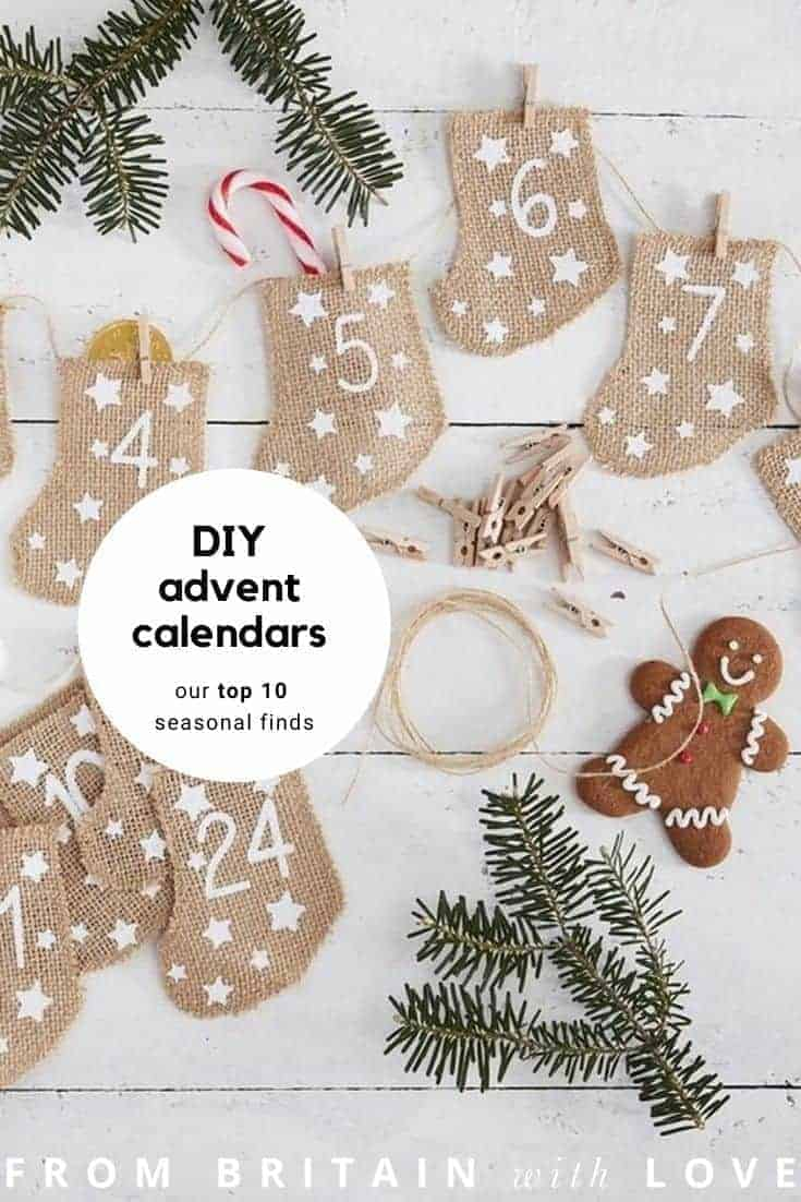 diy advent calendars - our pick of the most beautiful advent calendar kits to enjoy making this Christmas and to love for years to come like these beautiful fill your own hessian stockings from etsy #advent #calendar #diy #frombritainwithlove #handmade