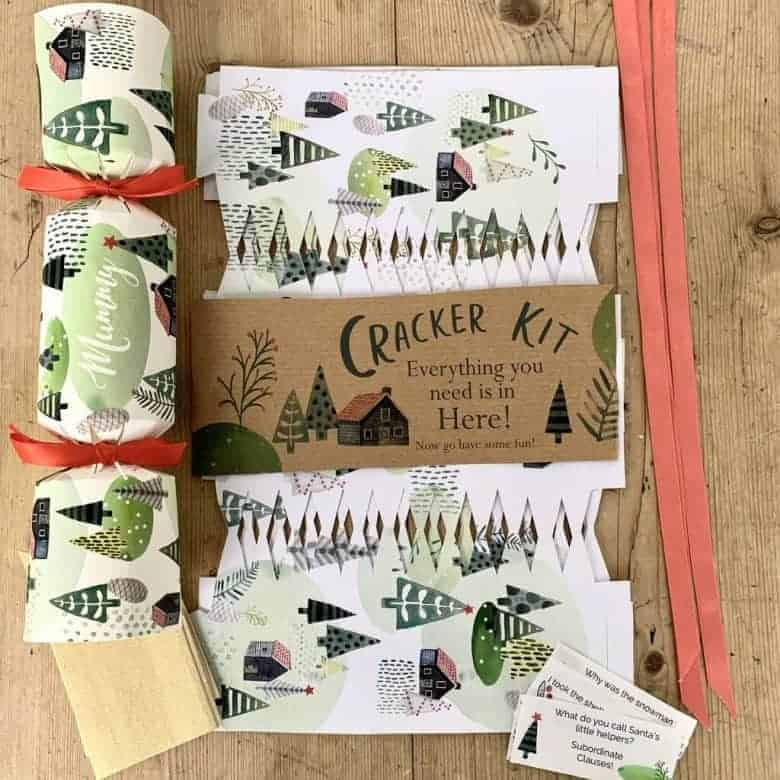 personalised christmas crackers diy kit by helena tyce from etsy plastic free in Helena's original design with your own personalised names added ready to fill your own crackers with treats, jokes, surprises #christmascrackers #diy #kit #fillyourown