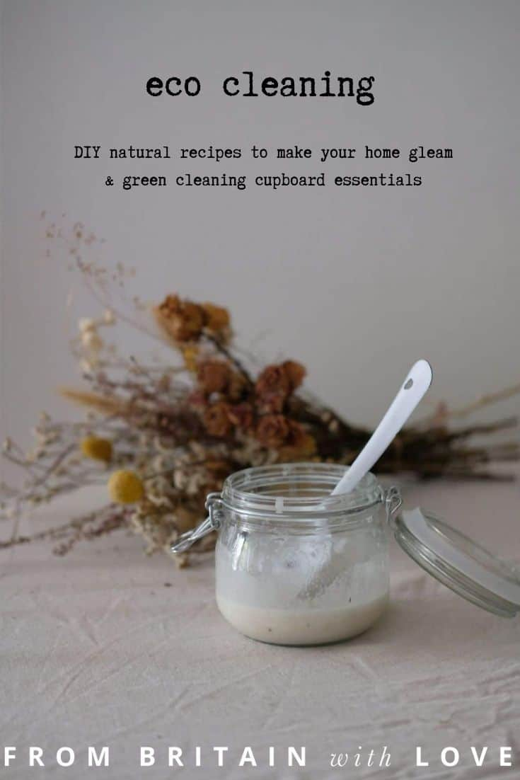 eco friendly cleaning products DIY lavender cream cleaner and all purpose cleaner recipes #ecofriendly #cleaning #DIY #recipe #frombritainwithlove #greenclean