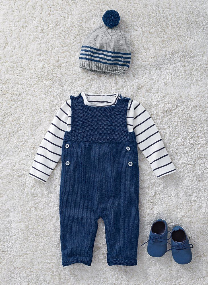 free baby knitting pattern for dungarees - easy to knit and one of my favourite most beautiful patterns for babies. I share this downloadable pattern as well as my other favourite knitting ideas to make for free