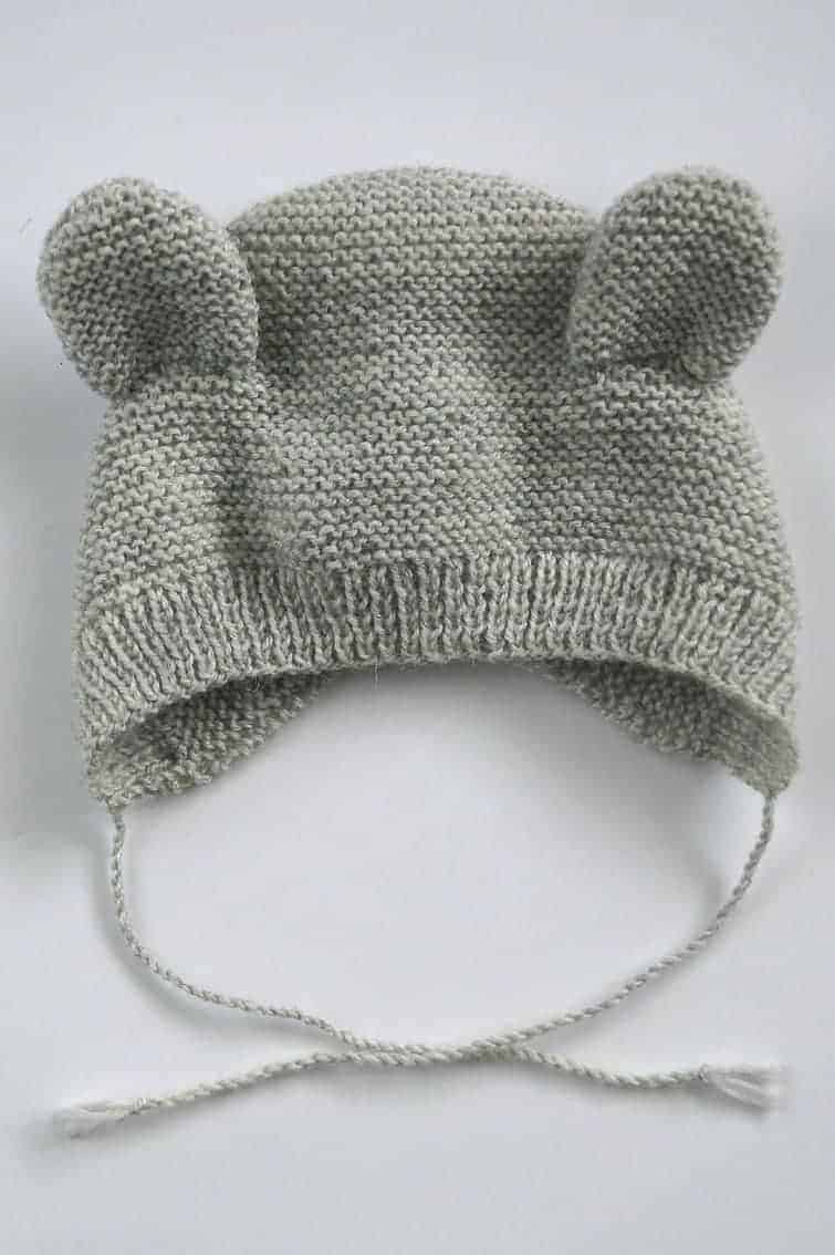 free knitting pattern for baby - bear ears bonnet easy to knit pattern. Just one of the beautiful free pattern ideas I've shared over on the blog #free #knitting #patterns #baby