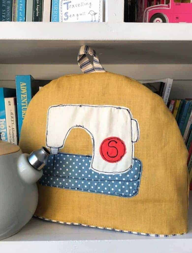 learn how to make this freehand embroidered tea cosy with poppy treffry #lockdown #craft #ideas #embroidery #teacosy