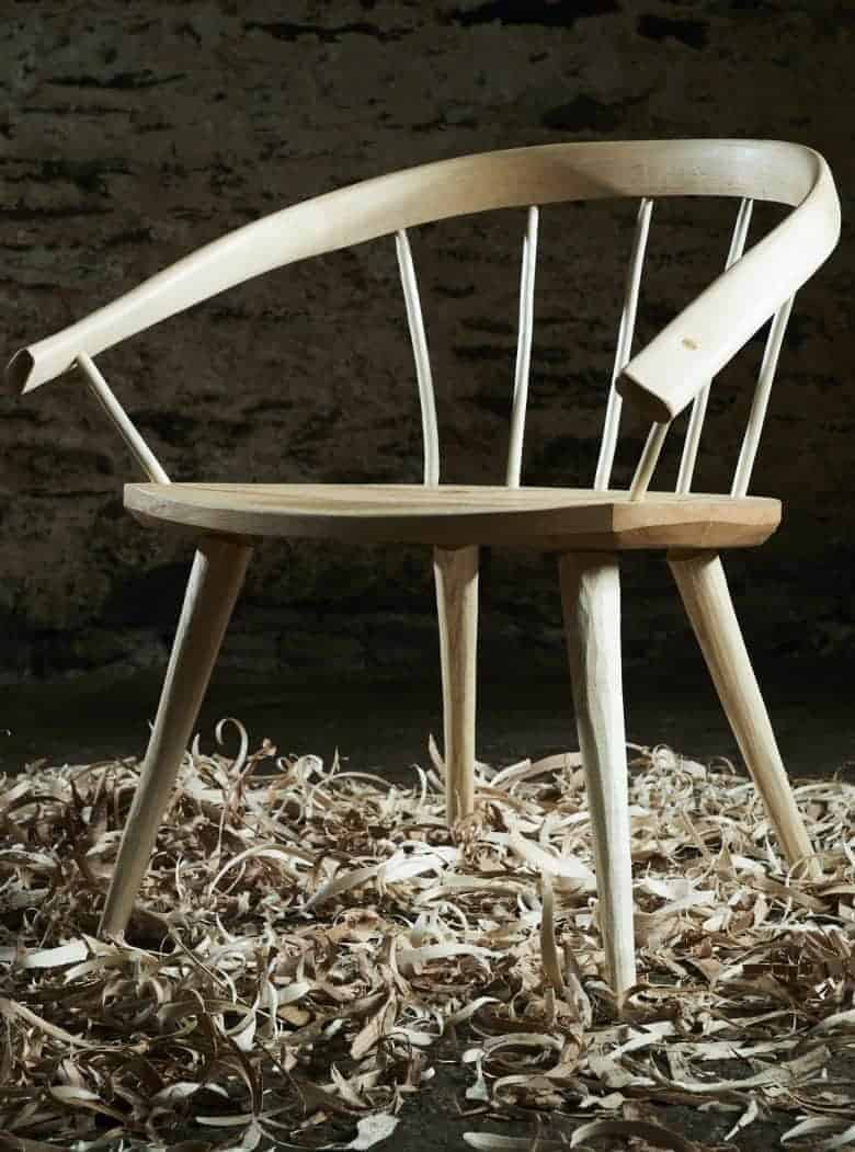 peter lanyon handcrafted furniture made from sustainable wood homegrown in britain and made into chairs, lighting, tables, shelves, benches, steps, stools and more #handcrafted #furniture #wood #madeinbritain #sustainable