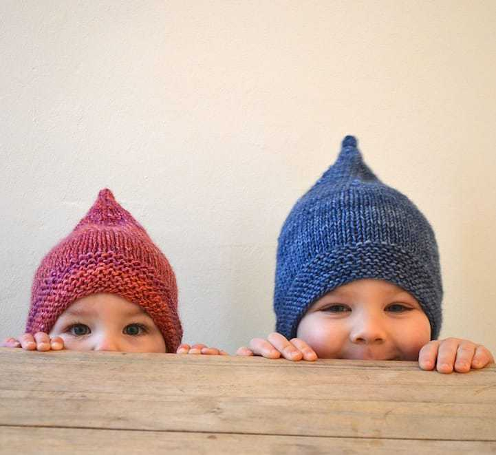 pixie troll hat for babies and children free knitting pattern just one of the adorable patterns I've shared over on the blog that I hope you'll enjoy knitting for the little ones in your life #knitting #pattern #free #baby