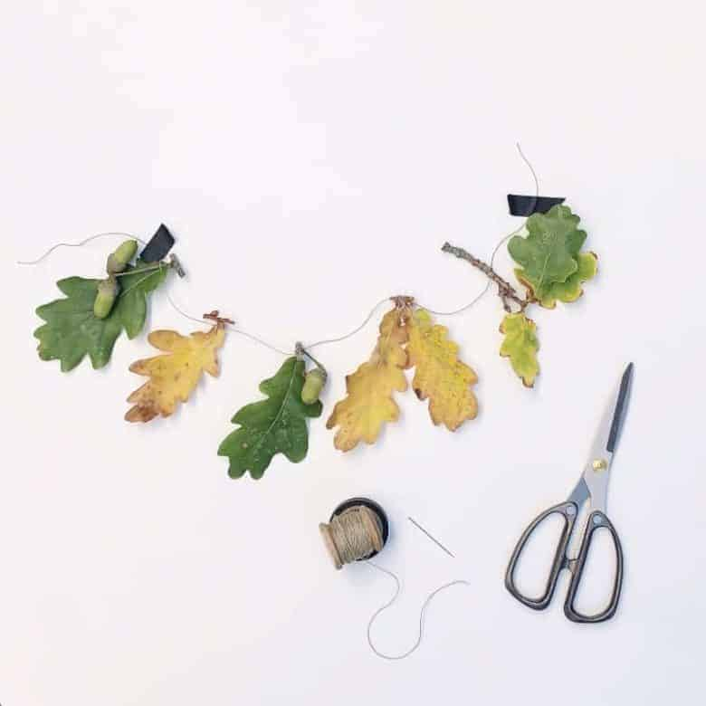 how to make a foraged autumn garland
