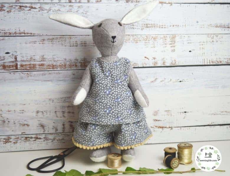 Bluebell rabbit sewing pattern kit by A Sewing Life on Etsy