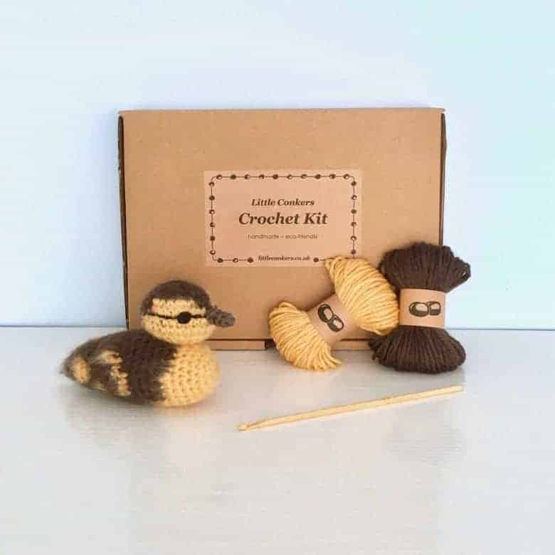 duckling crochet kit by little conkers on etsy #etsy #crochet #duckling #frombritainwithlove