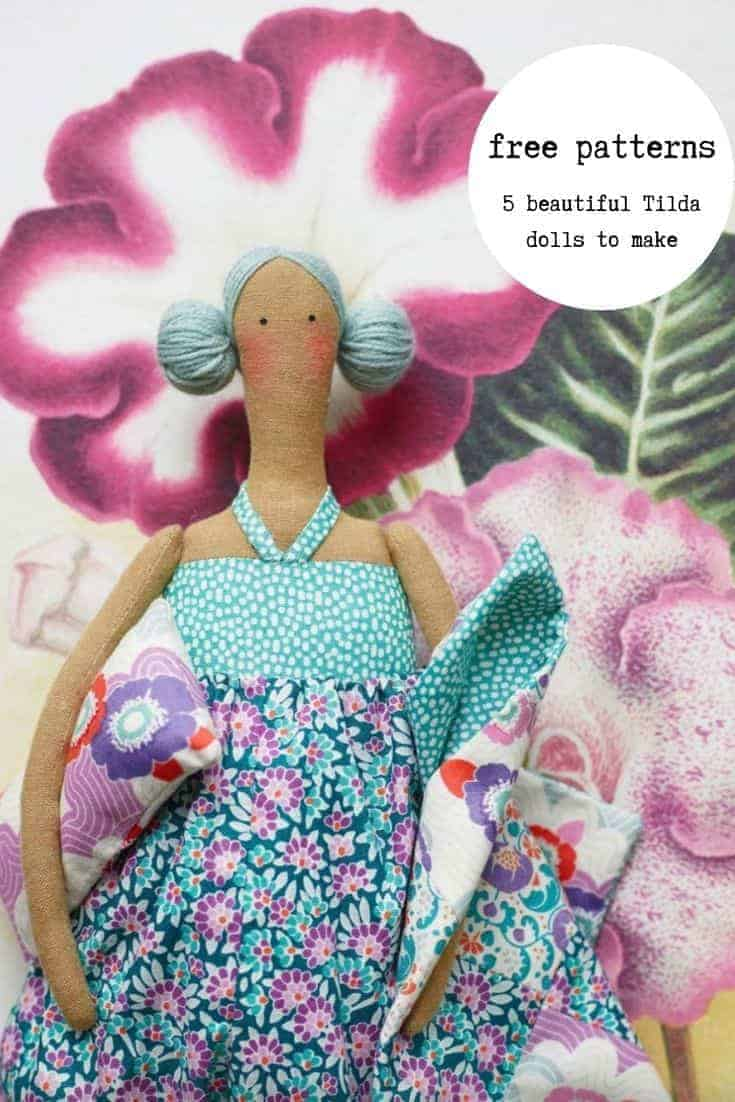 make a tilda doll for spring with our 5 free tilda doll patterns including this lazy days one - as well as all the links you need to buy Tilda fabric #spring #craft #tilda #doll #free #pattern