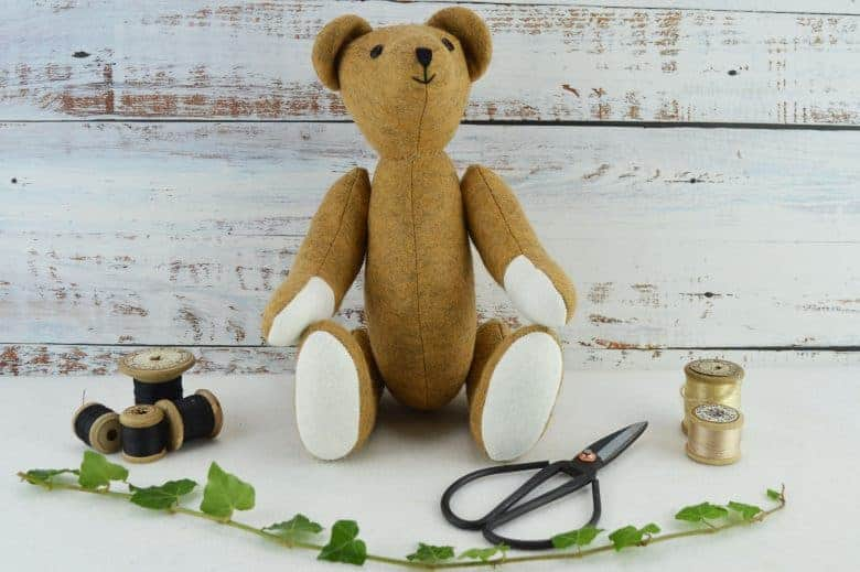 theodore teddy bear sewing pattern kit by A Sewing Life on Etsy