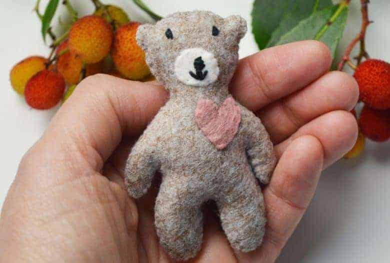 tiny teddy bear free sewing pattern a sewing life on etsy