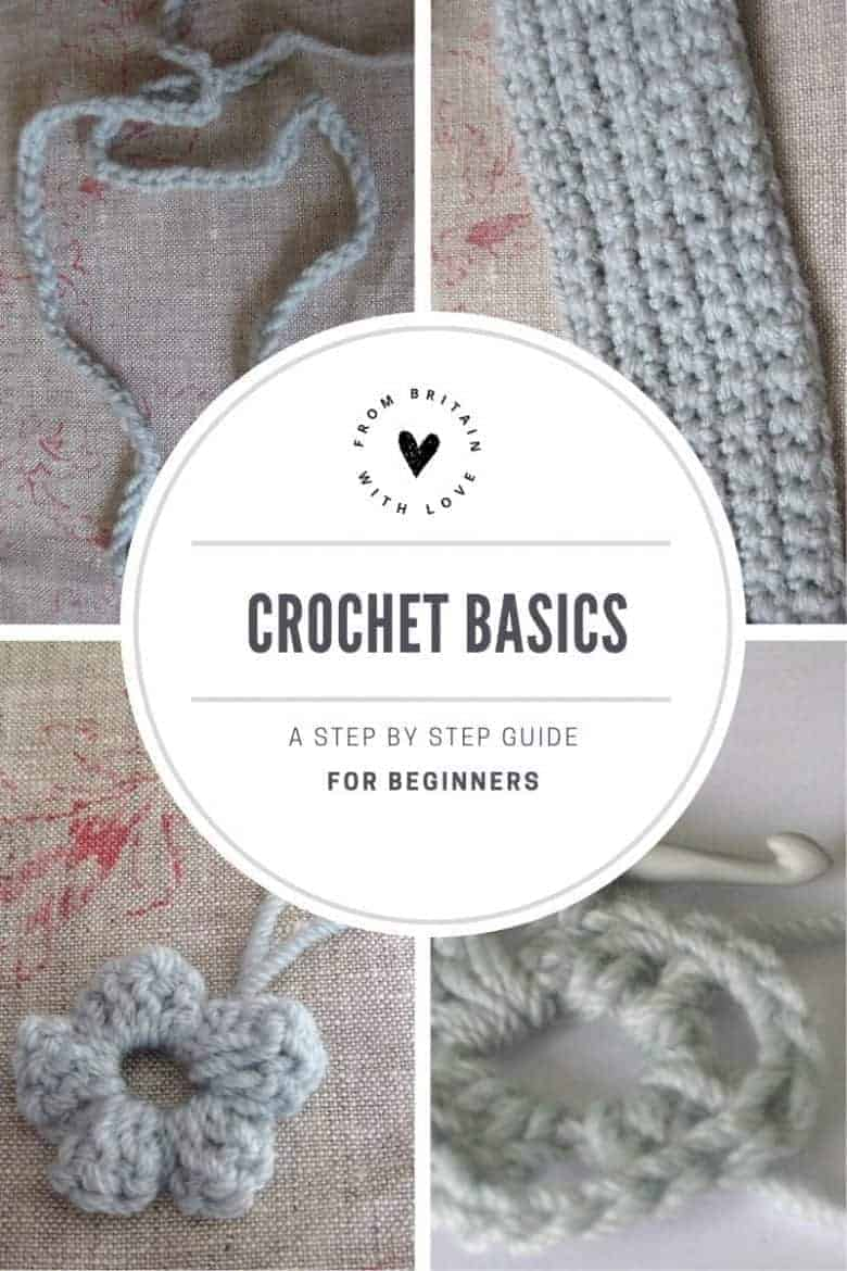 crochet basics for beginners how to do double stitch, treble stitch, chain stitch, granny squares, flowers, blankets and more #crochet #double #chainstitch #basics #beginners #diy #tutorial