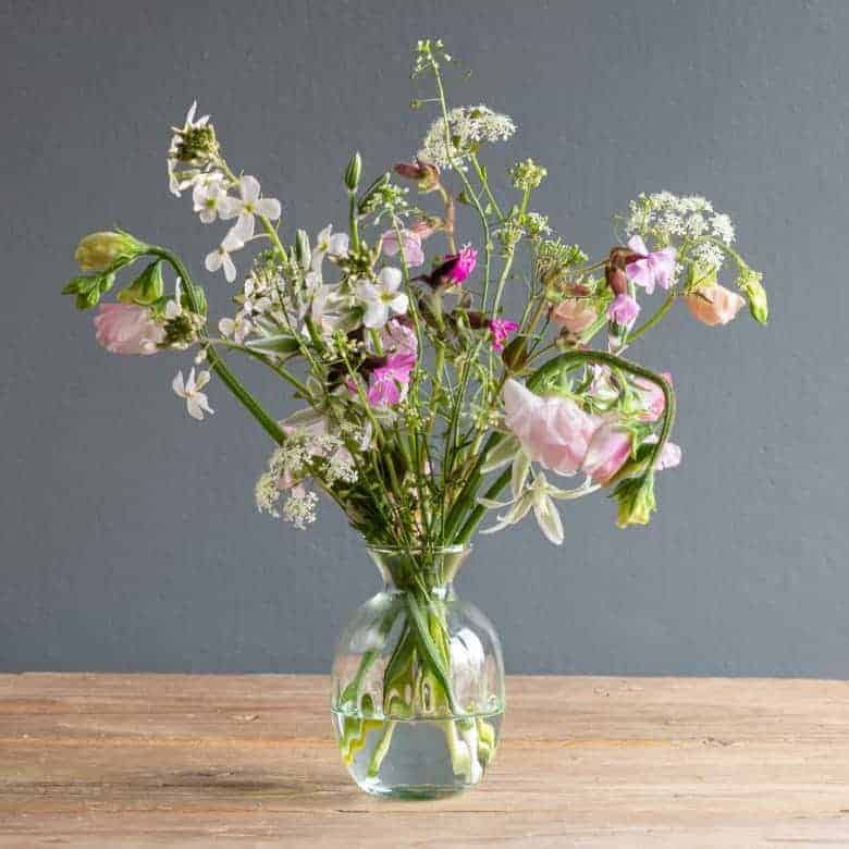 flower subscription the real flower company sweet peas