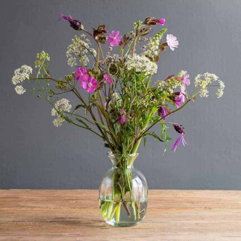 flower subscription the real flower company purple white