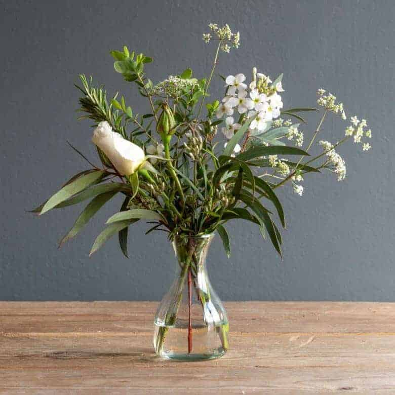 flower to vase subscription the real flower company white rose summer white flowers sweet rocket