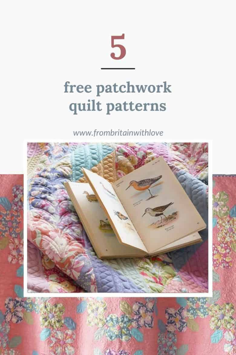patchwork quilt patterns - 5 free downloads from Tilda #patchwork #quilt #patterns #free #tilda