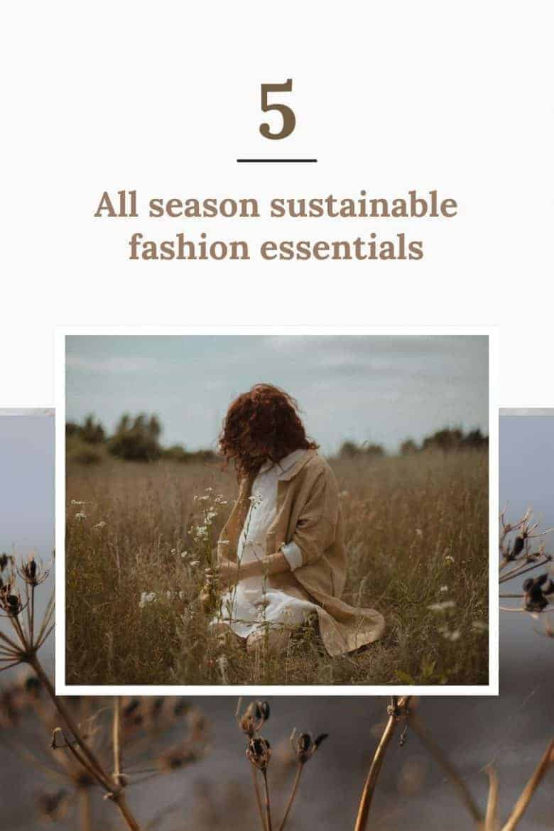 sustainable fashion - 5 essential capsule wardrobe pieces handmade in linen - essential dresses, under layers, jumpsuit, trousers and pinafore for all season dressing #sustainable #fashion #linen