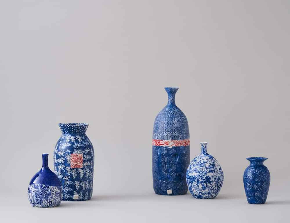 carolyn tripp blue and white hand thrown ceramic vessels and pottery
