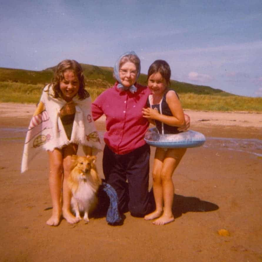 carolyn tripp with her grandmother and sister
