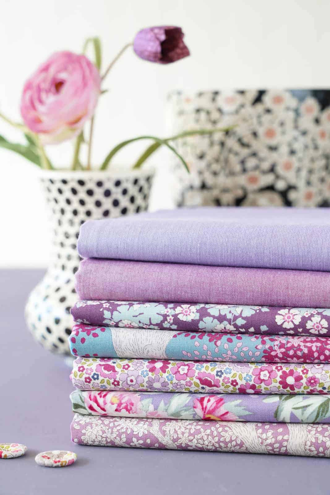 tilda woodland Lilac collection of designs for autumn 2021 - just one of the beautiful collection of materials by Tilda that we love and have shared all the links you need to buy them and get sewing! #tilda #fabrics #woodland #tildafabrics
