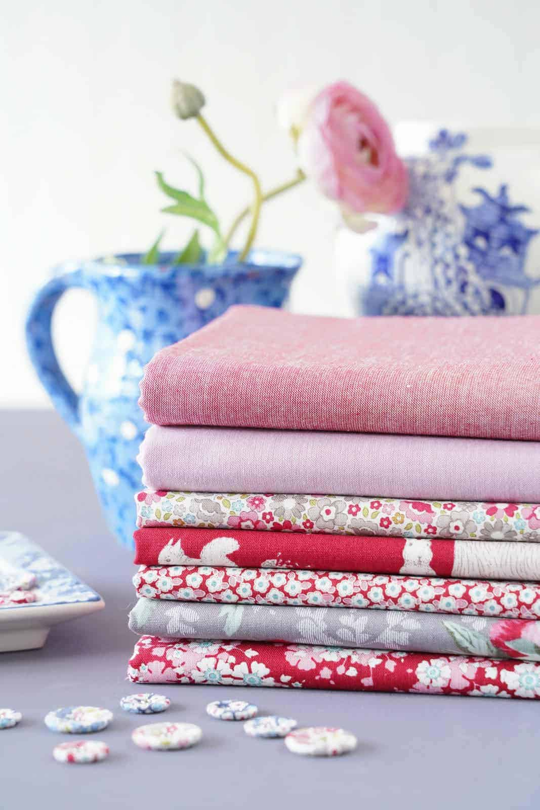 tilda woodland Red collection of designs for autumn 2021 - just one of the beautiful collection of materials by Tilda that we love and have shared all the links you need to buy them and get sewing! #tilda #fabrics #woodland #tildafabrics