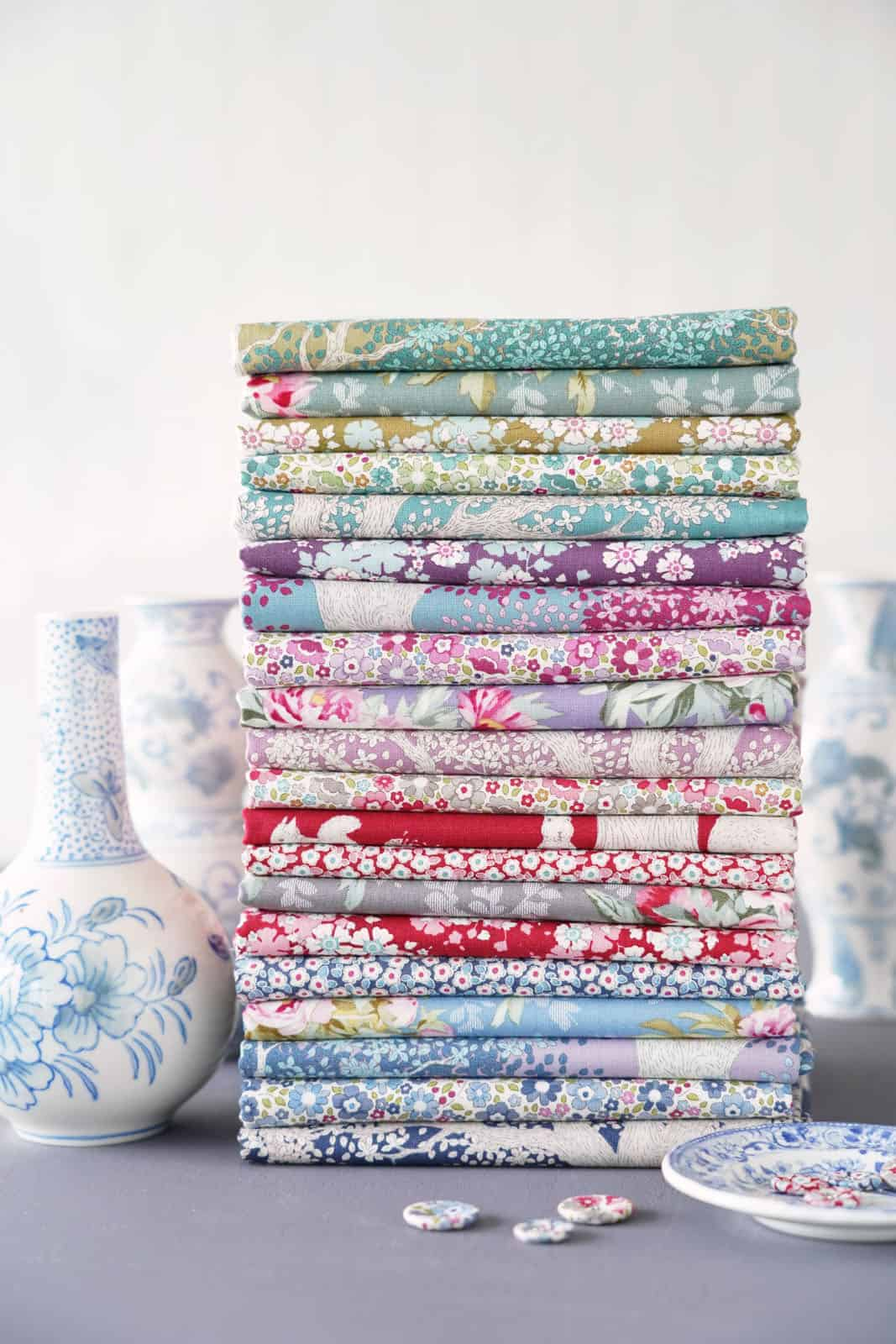 tilda woodland collection of designs for autumn 2021 - just one of the beautiful collection of materials by Tilda that we love and have shared all the links you need to buy them and get sewing! #tilda #fabrics #woodland #tildafabrics