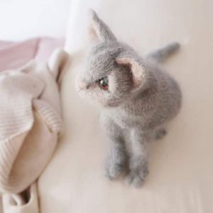 grey kitten knitting pattern pdf download by claire garland dot pebbles knits available to buy now