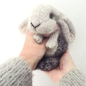 holland lop rabbit knitting pattern by claire garland dot pebbles knit