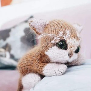 kitten knitting pattern pdf download by claire garland dot pebbles knits available to buy now