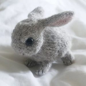 little baby bunny rabbit knitting pattern by claire garland dot pebbles knit