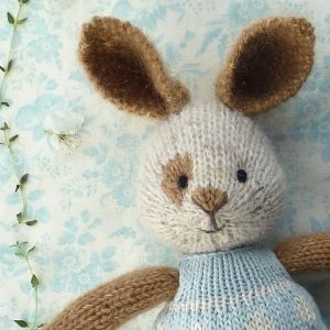 small rabbit knitting pattern PDF download by Little Cotton Rabbits available to buy a an instant download on Etsy now