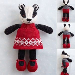 badger in a dress knitting pattern PDF download by little cotton rabbits