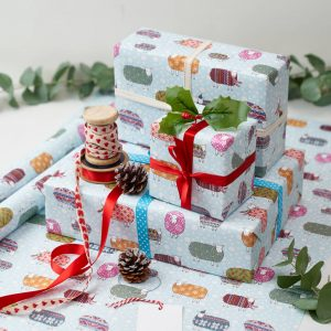 christmas sheep gift wrap wrapping paper